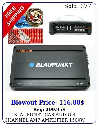 blaupunkt car audio channel amp amplifier