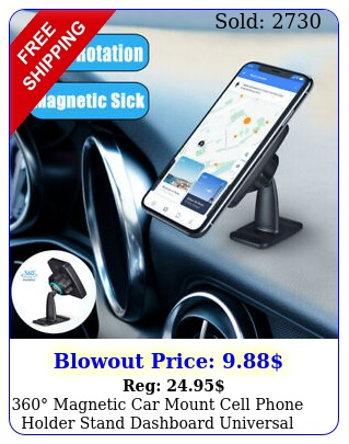 magnetic car mount cell phone holder stand dashboard universal iphon