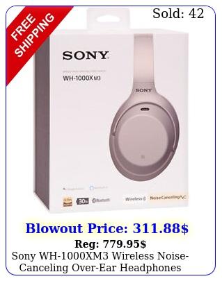 sony whxm wireless noisecanceling overear headphones silve