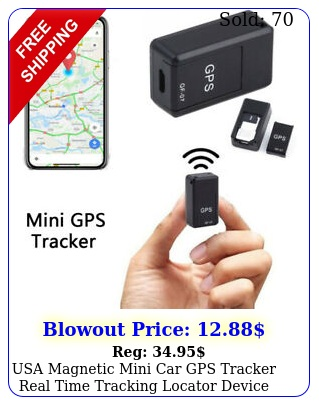 usa magnetic mini car gps tracker real time tracking locator device voice recor