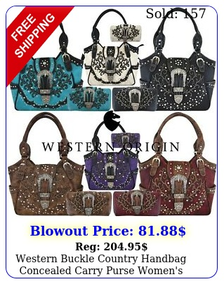 western buckle country handbag concealed carry purse women's shoulder bag walle