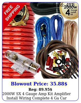 w sx gauge amp kit amplifier install wiring complete ga car wires re
