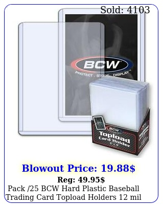 pack bcw hard plastic baseball trading card topload holders mil protecto
