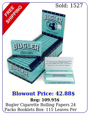 bugler cigarette rolling papers packs booklets box leaves pac