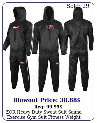 zor heavy duty sweat suit sauna exercise gym suit fitness weight loss anti ri