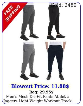 men's mesh drifit pants athletic joggers lightweight workout track gym sxx