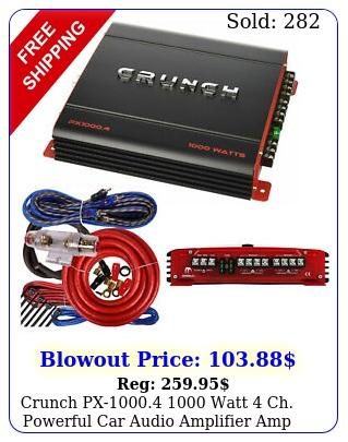 crunch px watt ch powerful car audio amplifier  amp wire ki