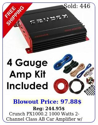 crunch px watts channel class ab car amplifier w free amp ki