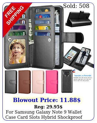 samsung galaxy note wallet case card slots hybrid shockproof phone cove