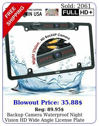 backup camera waterproof night vision hd wide angle license plate car rear vie