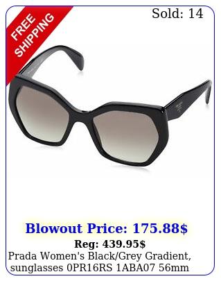 prada women's blackgrey gradient sunglasses prrs aba m