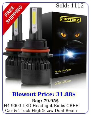 h led headlight bulbs cree car truck highlow dual beam kit k whit