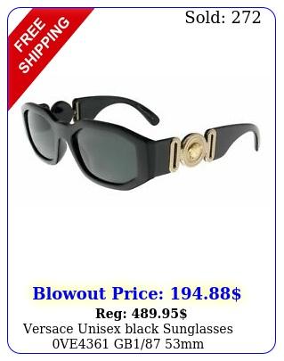 versace unisex black sunglasses ve gb m