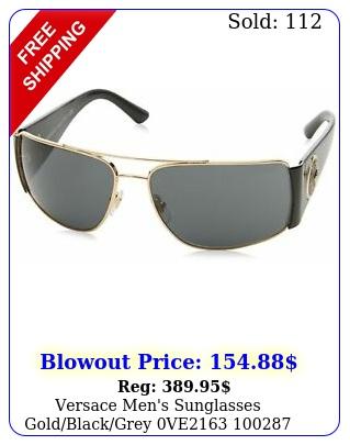 versace men's sunglasses goldblackgrey v
