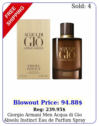 giorgio armani men acqua di gio absolu instinct eau de parfum spray oz ni