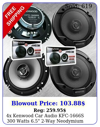 x kenwood car audio kfcs watts way neodymium coaxial speaker