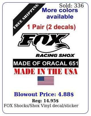 fox shocksshox vinyl decalsticke