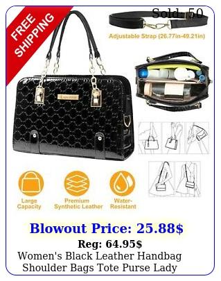 women's black leather handbag shoulder bags tote purse lady messenger hobo ba
