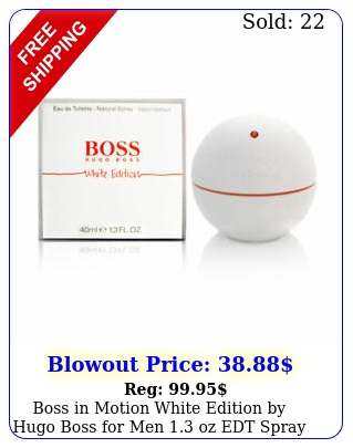 boss in motion white edition by hugo boss men oz edt spray bran