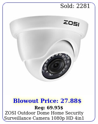 zosi outdoor dome home security surveillance camera p hd in night visio