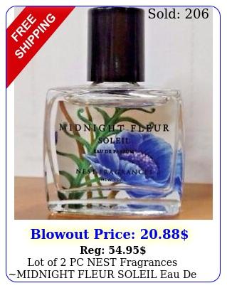 lot of pc nest fragrances midnight fleur soleil eau de parfum perfume o