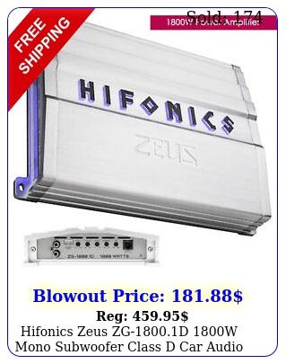 hifonics zeus zgd w mono subwoofer class d car audio amplifier am