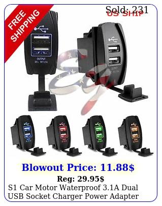 s car motor waterproof a dual usb socket charger power adapter led