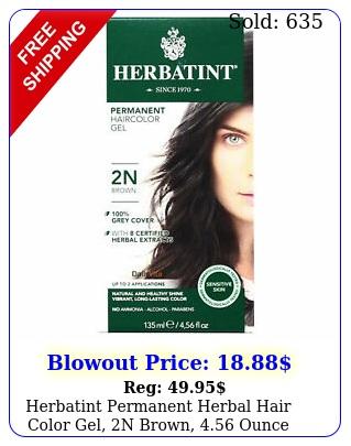 herbatint permanent herbal hair color gel n brown ounc