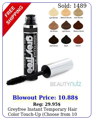greyfree instant temporary hair color touchup choose from color