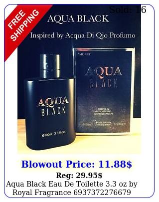aqua black eau de toilette oz by royal fragranc