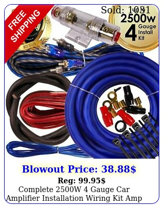 complete w gauge car amplifier installation wiring kit amp pk ga blu