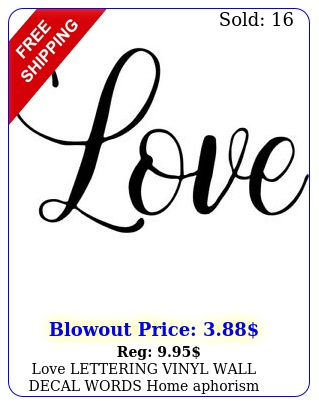 love lettering vinyl wall decal words home aphorism pintres