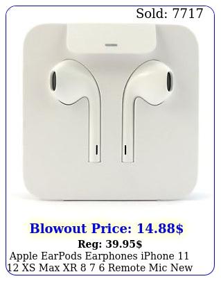 apple earpods earphones iphone  xs max xr   remote mic origina