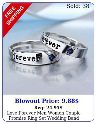love forever men women couple promise ring set wedding band valentine gif