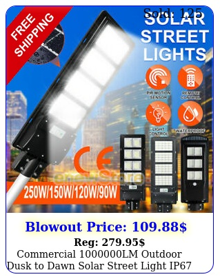 commercial lm outdoor dusk to dawn solar street light ip road lamp pol