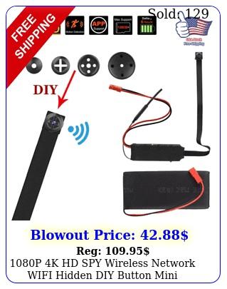 p k hd spy wireless network wifi hidden diy button mini camera recorde