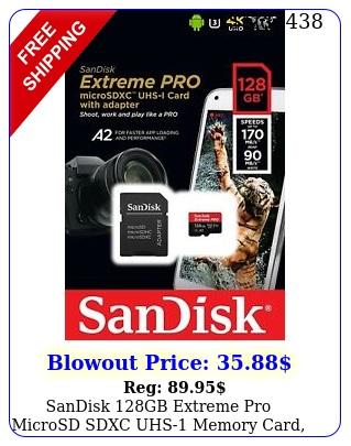 sandisk gb extreme pro microsd sdxc uhs memory card k u a v mb