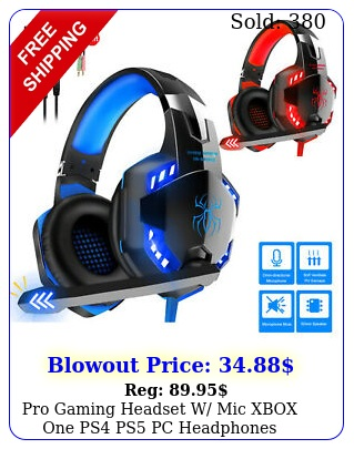 pro gaming headset w mic xbox one ps ps pc headphones microphone bas