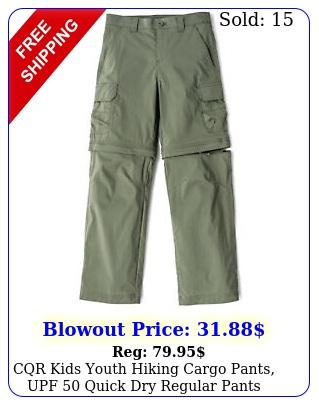 cqr kids youth hiking cargo pants upf  quick dry regular pant