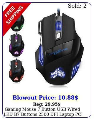 gaming mouse button usb wired led b buttons dpi laptop pc gamer mic