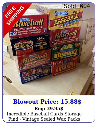 incredible baseball cards storage find vintage sealed wax packs card lo