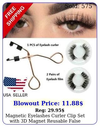 magnetic eyelashes curler clip set with d magnet reusable false lashes kit too