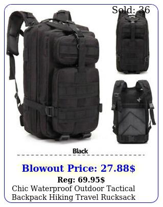 chic waterproof outdoor tactical backpack hiking travel rucksack bag durabl