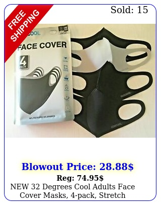 degrees cool adults face cover masks pack stretc