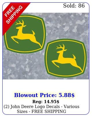 john deere logo decals various sizes free shippin