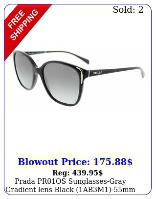 prada pros sunglassesgray gradient lens black abmm