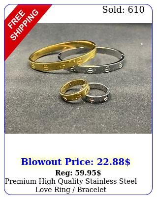 premium high quality stainless steel love ring bracele