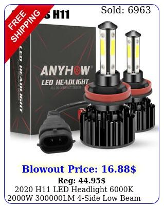 h led headlight k w lm side low beam bulbs high power jo