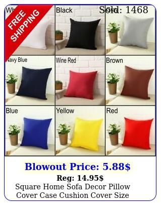 square home sofa decor pillow cover case cushion cover size x