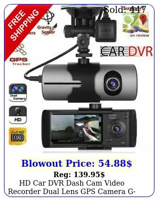 hd car dvr dash cam video recorder dual lens gps camera gsensor night vision u